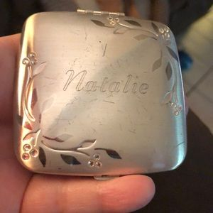 """Handheld engraved"""" Natalie"""" mirror"""
